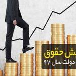 حداقل حقوق کارمندان در سال ۹۷ چند درصد افزایش مییابد؟