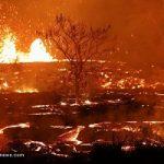 تصاویری از فوران آتشفشان هاوایی بعد از سه هفته