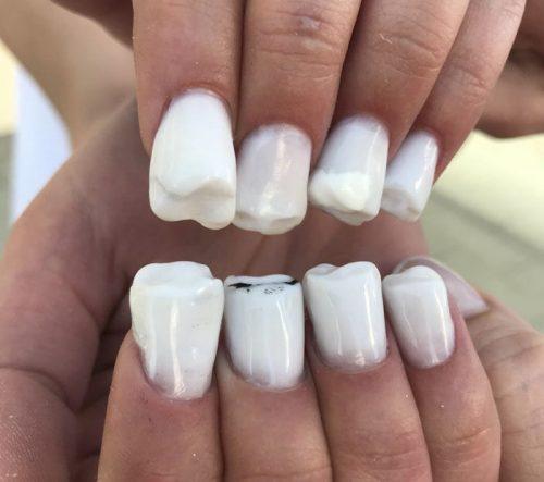 مدل ناخن دندانی