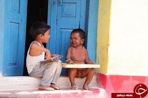 تصاویری از بامزه ترین و کوچک ترین پیر مرد دنیا