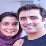 امین زندگانی و همسرش الیکا عبدالرزاقی در ورزشگاه جامجهانی