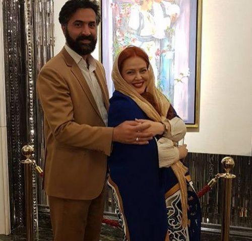 بهاره رهنما با همسرش