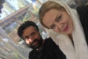 عکس رمانتیک جدید بهاره رهنما با همسرش امیر خسرو عباسی!