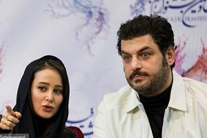 شوخی جالب سام درخشانی با قدکوتاهی الناز حبیبی!!