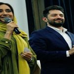 عکس یادگاری بهرام رادان و بهاره کیان افشار با تیم ملی