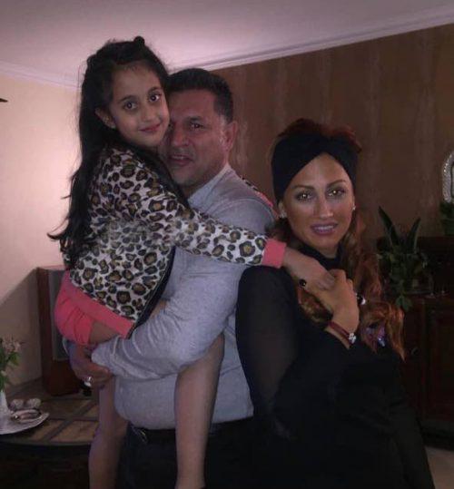 علی دایی با همسر و دخترش