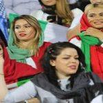 تصاویر دیدنی از هیجان زنان در ورزشگاه آزادی برای بازی ایران و اسپانیا!