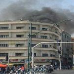 تصاویری از آتش سوزی پاساژ کامپیوتر در ولیعصر تهران !