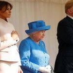 سوژه شدن رفتار عجیب دونالد ترامپ در دیدار با ملکه انگلیس!