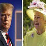 دیدار دونالد ترامپ و همسرش ملانیا با ملکه انگلیس!