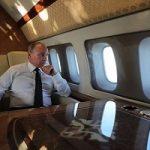 تصاویر منتشر شده از داخل هواپیمای اختصاصی پوتین را ببینید!!