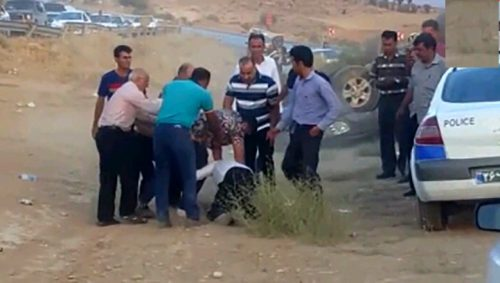 حمله سرنشین لندکروز به پلیس