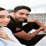 تصاویری از اولین حضور کیمیا علیزاده و همسرش در تلویزیون