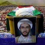 مراسم تشییع پیکر محمد تولایی طلبه مشهدی در تاسوعا!