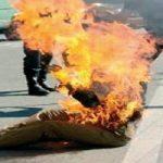 جان باختن مردی که مقابل ساختمان شهرداری تهران خودسوزی کرد!