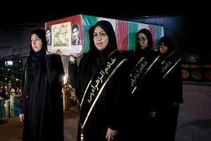 تصاویری از مراسم وداع با پیکر ۱۳۵ شهید گمنام دفاع مقدس