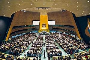 خبرساز شدن تعویض پوشک بچه در صحن سازمان ملل!!