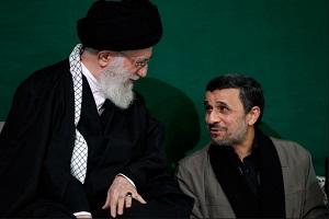 مراسم شام غریبان با حضور رهبر انقلاب و محمود احمدی نژاد!