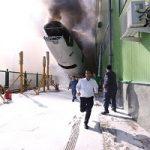 تصاویری از آتش گرفتن هواپیمای ماهان در فرودگاه امام !