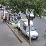 تصاویری از لحظه حمله به یک دختر تهرانی با شی نوک تیز!!