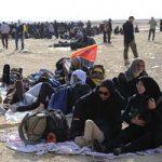 تصاویری از ازدحام زائران اربعین برای دریافت دینار در مرز مهران!