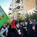 عزاداری دانشجویان از دانشگاه تهران تا بیت رهبری در روز اربعین!