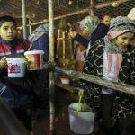 تصاویری از طبخ و توزیع آش نذری ۸۴ تنی در شیراز!