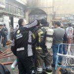 آتش سوزی گسترده در انبار لوازم یدکی خودرو در تهران!