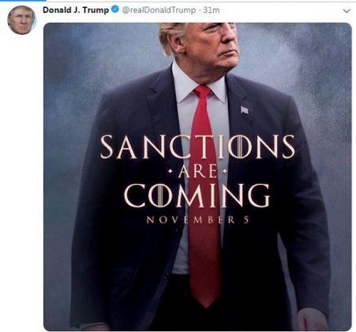 توئیت ترامپ علیه ایران