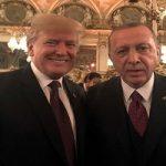 تصاویری از دیدار اردوغان و ترامپ در پاریس