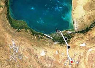 انتقال آب از دریای خزر به سمنان