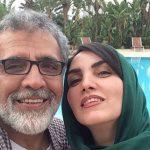 بهروز افخمی مجری جنجالی برنامه هفت و همسرش مرجان شیرمحمدی