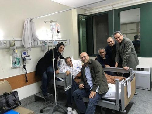 حسین محب اهری در بیمارستان