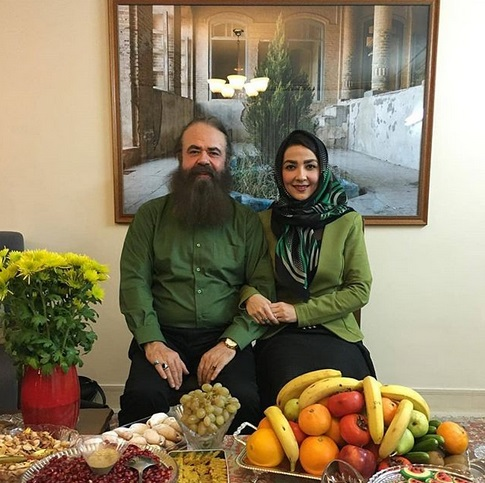 عکس سارا صوفیانی و همسرش