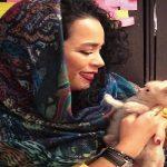 ذوق زدگی عجیب ملیکا شریفی نیا با دیدن سگ خالدار!!