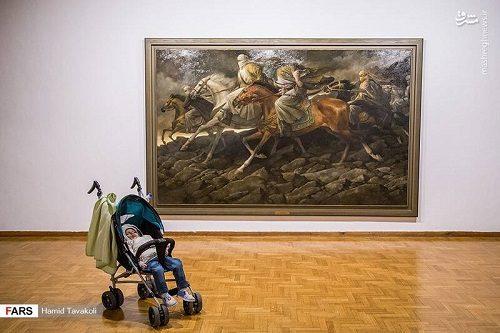 نمایشگاه آثار نقاشی حسن روح الامین در فرهنگسرای نیاوران