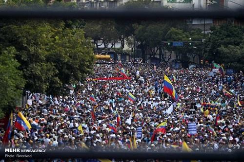 تصاویری از اعتراضات مردمی در ونزوئلا