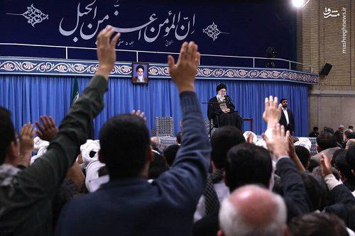 تصاویری از دیدار مردم قم با رهبر انقلاب اسلامی