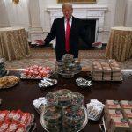 پذیرایی خاص و فست فودی به سبک ترامپ رئیس جمهوری آمریکا!