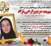 دردسرهای انتشار عکس تنها زن قربانی سانحه سقوط هواپیمای ارتش!!