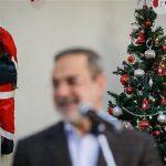 حضور سرزده بطحایی در مراسم جشن سال نوی دانشآموزان مسیحی