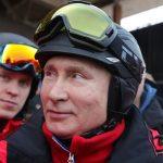 تصاویری جالب از اسکی بازی پوتین در سوچی