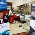 اصلاح رایگان موی سر مشتریان شبیه مدل موی تراپ و اون