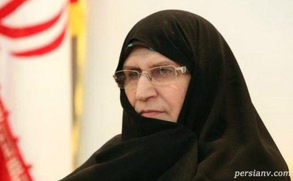 زهرا مصطفوی دختر امام خمینی در جشن ۴۰ سالگی انقلاب