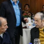 دیدار علی نصیریان و محمدعلی کشاورز بعد از جشنواره فجر
