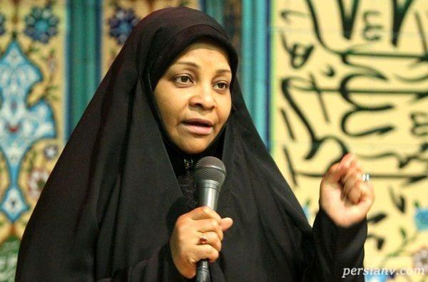 مرضیه هاشمی خبرنگار ایرانی در راهپیمایی ۲۲ بهمن