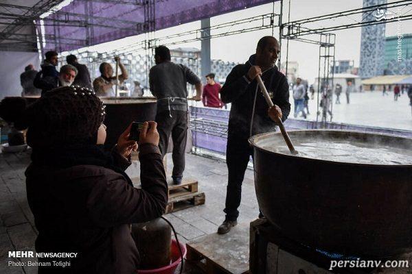 پخت سمنوی نذری در شب شهادت حضرت فاطمه زهرا در تهران