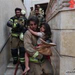 تصاویری از آتشسوزی مجتمع مسکونی ۶ طبقه در شمال تهران!!