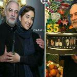 عکس های جشن تولد ایرج نوذری با حضور مادر و دخترش