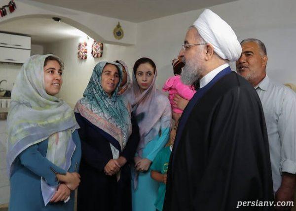 تصاویری از حضور حسن روحانی در گلستان و دیدار با سیل زدگان!